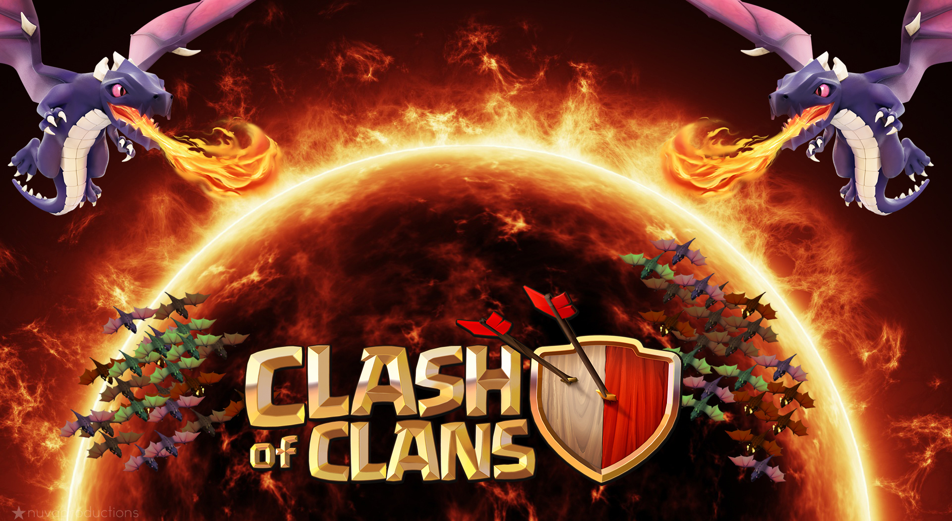 clan-artwork-clash-of-clans-dragons