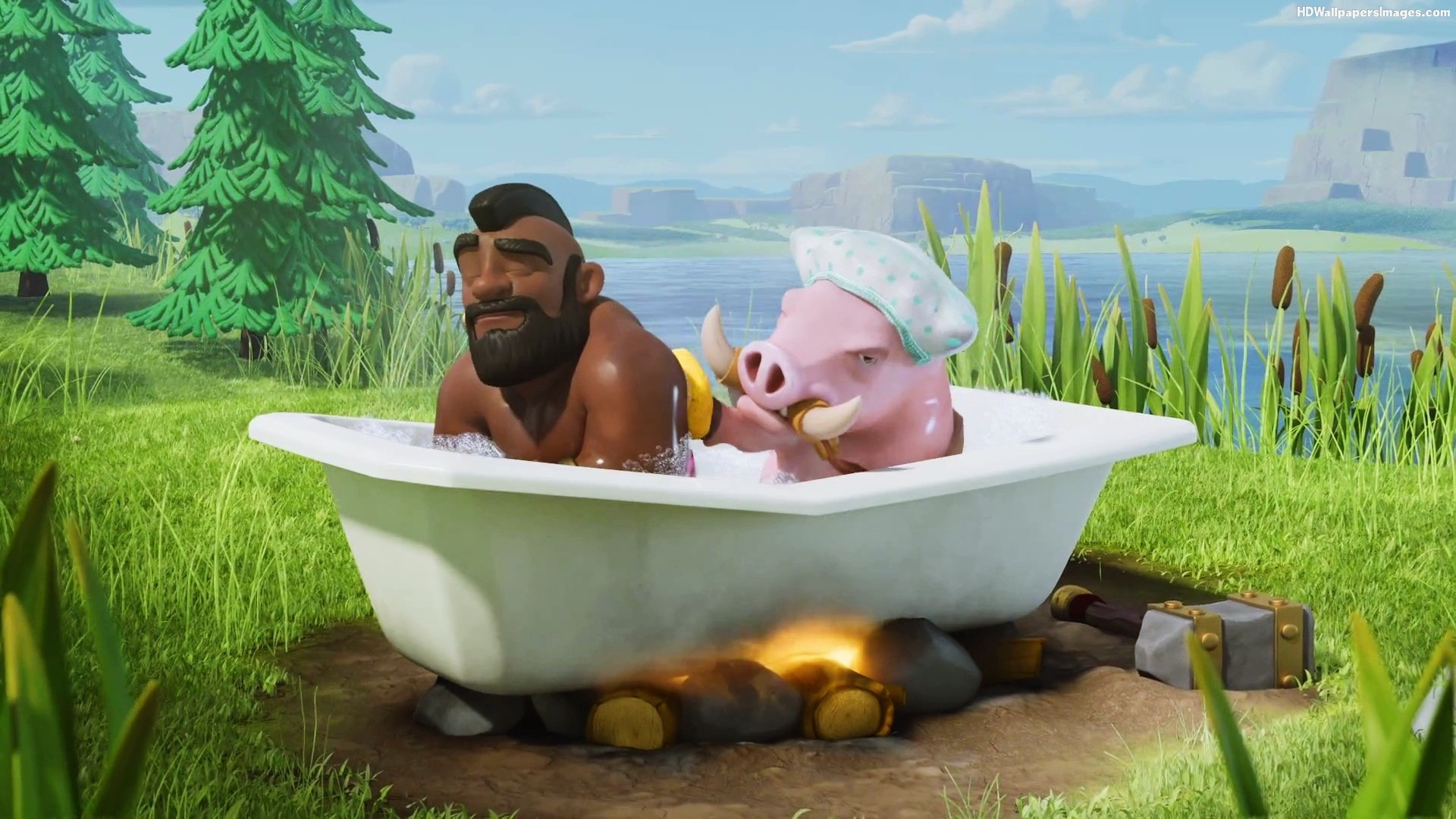 hog-rider-with-pig-clash-of-clans