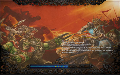 WC3 Run Kitty Run Loading Screen