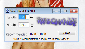 Warcraft 3 Resolution Changer Screenshot