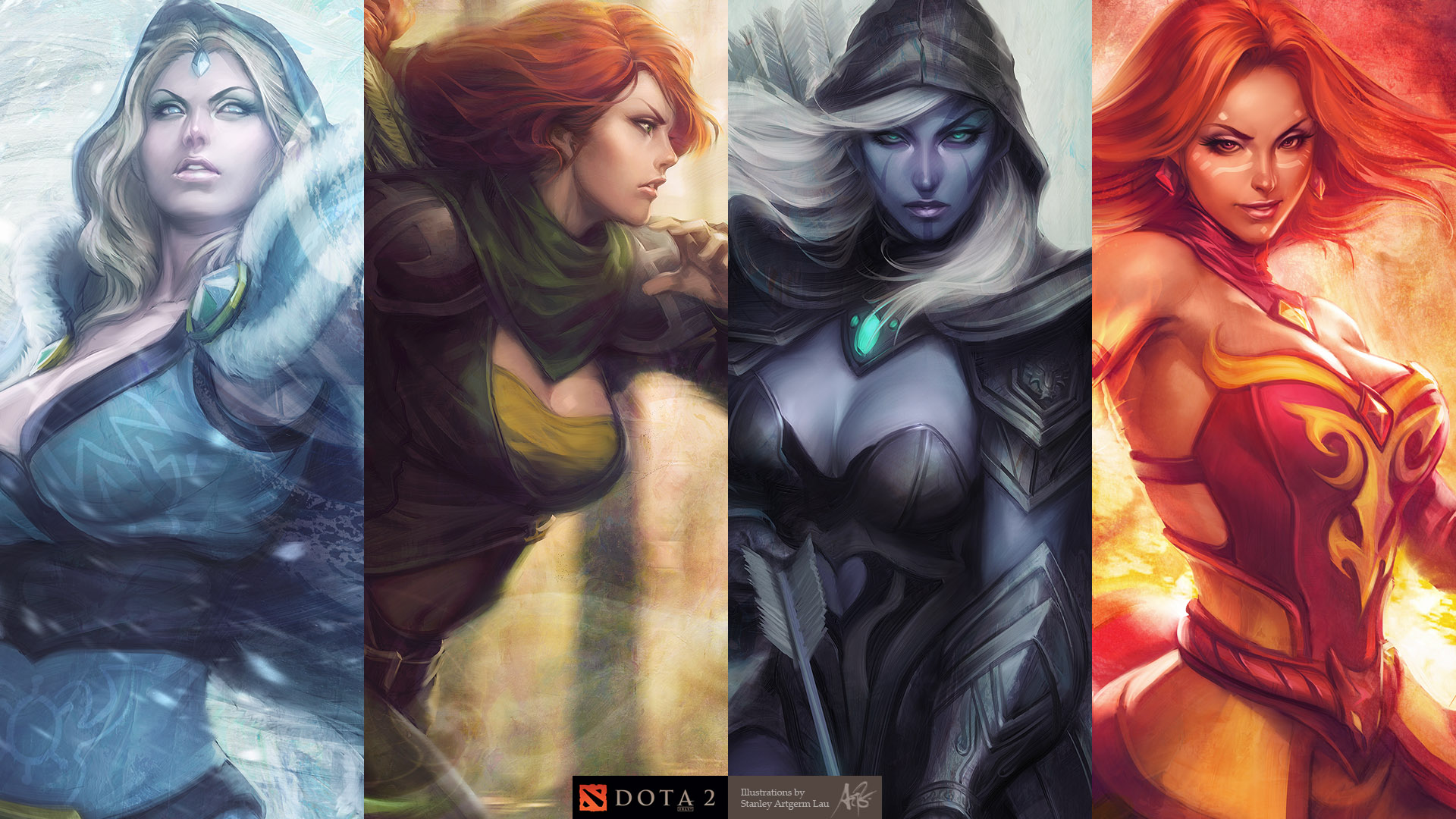 dota-girls-wallpaper-windrunner-lina-dark-ranger-chrystal-maiden
