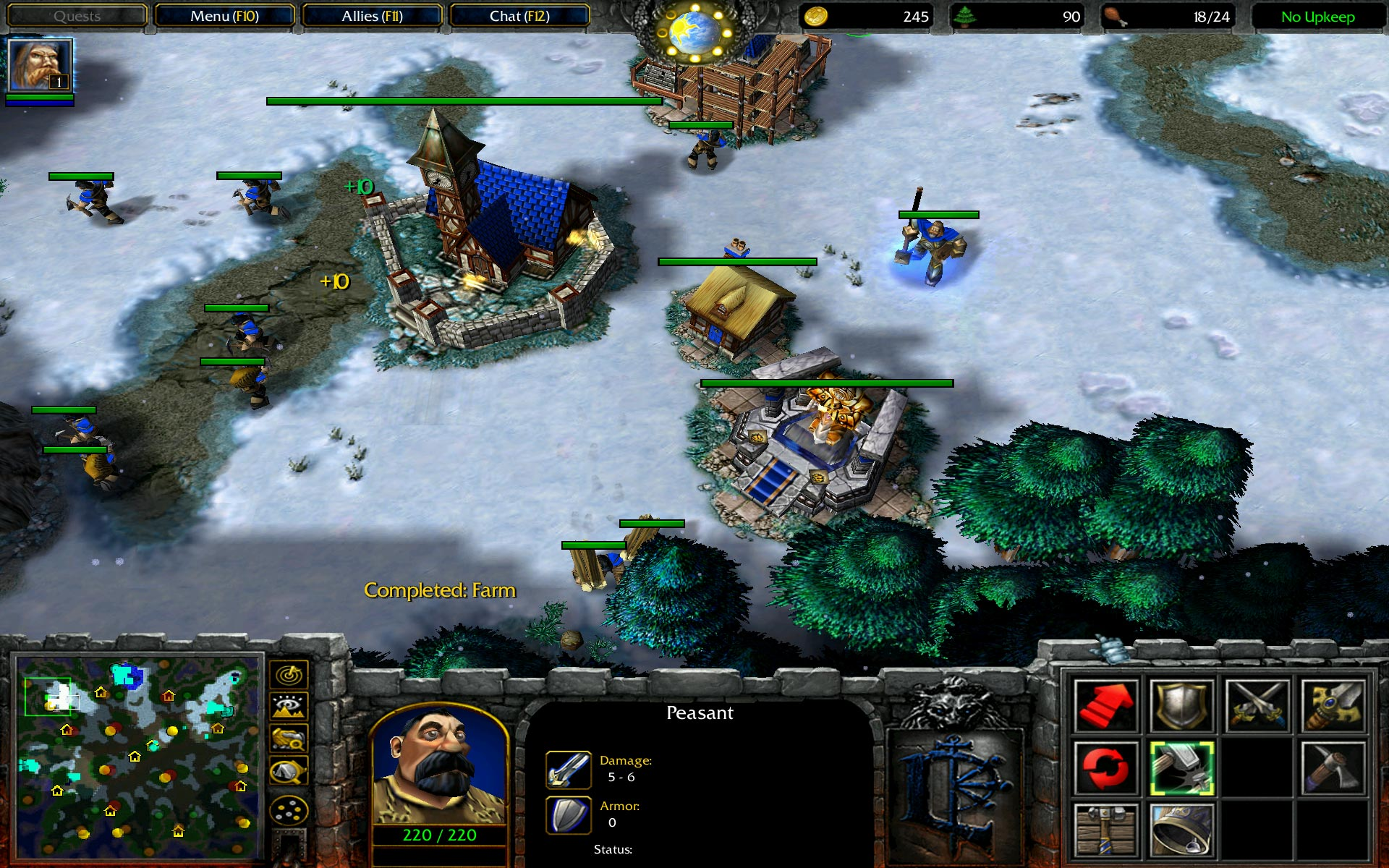 warcraft-3-human-base-paladin-snow-map