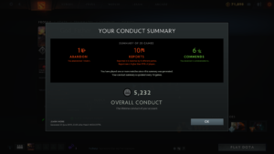 Conduct summary in Dota 2