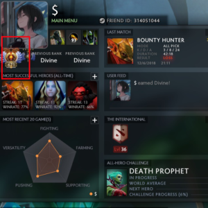 Immortal ranking in dota2