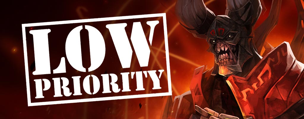 Low Priority Games in Dota 2
