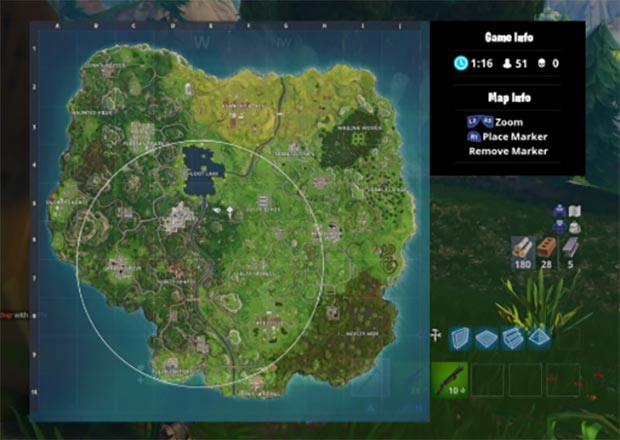 Fortnite Battle Royale Map