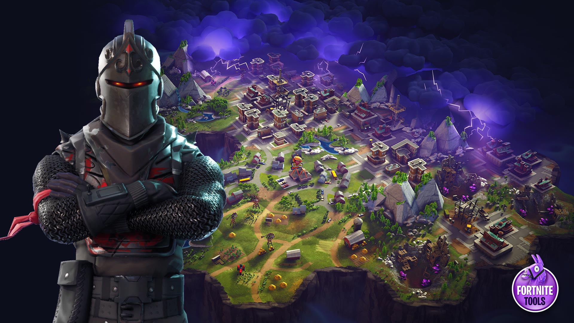 Fortnite Battle Royale Map Wallpaper Black Knight
