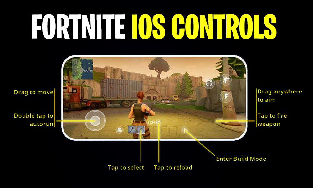 Fortnite iOS controls and keys