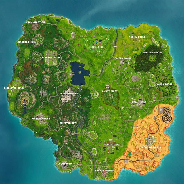 Fortnite Season 5 Map
