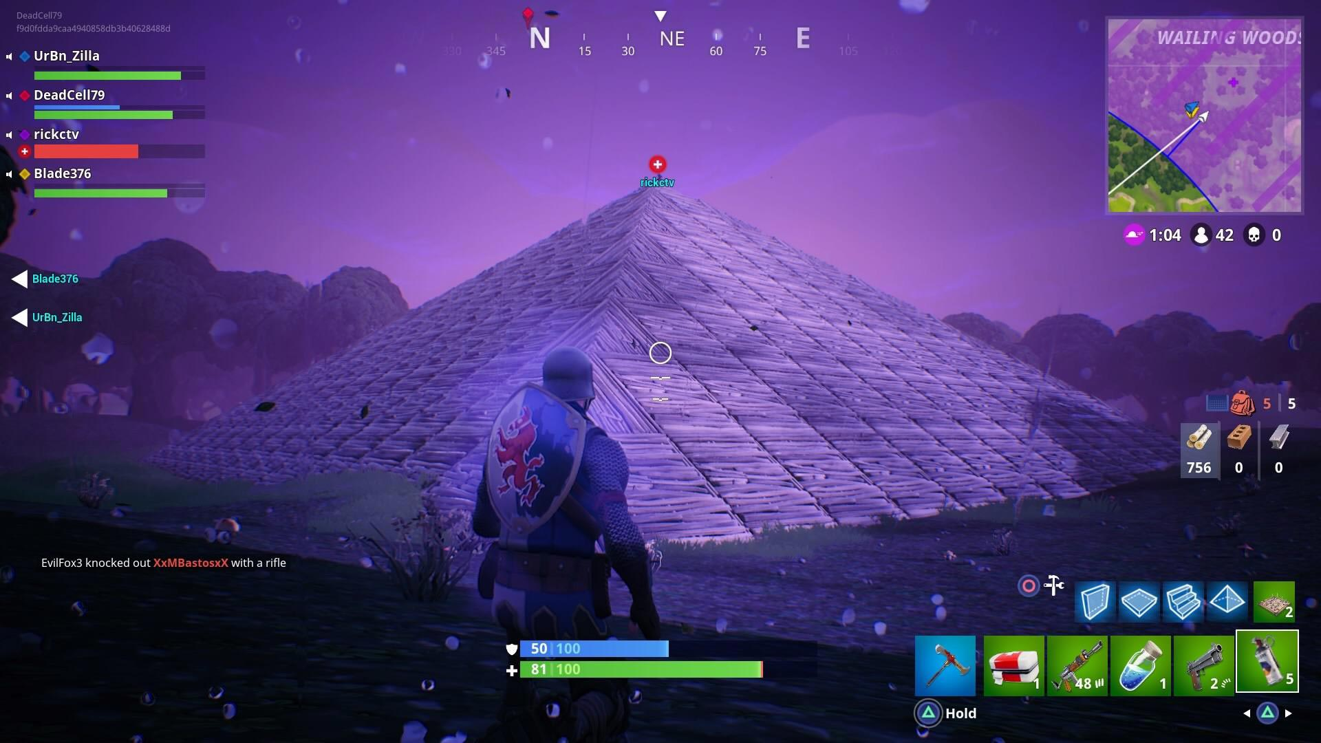 Fortnite Building Wooden Pyramid