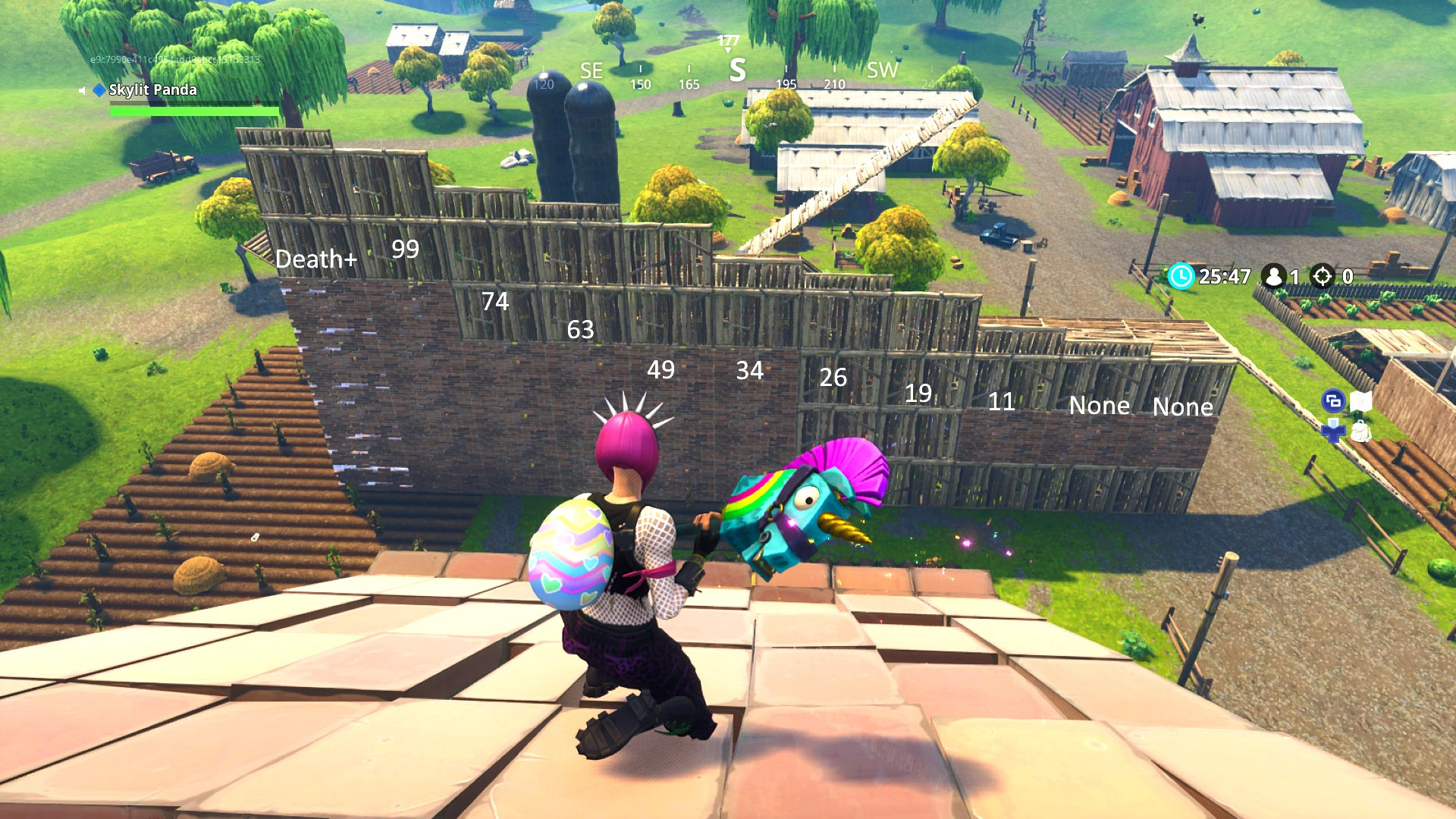 Fortnite Falling down height damage table