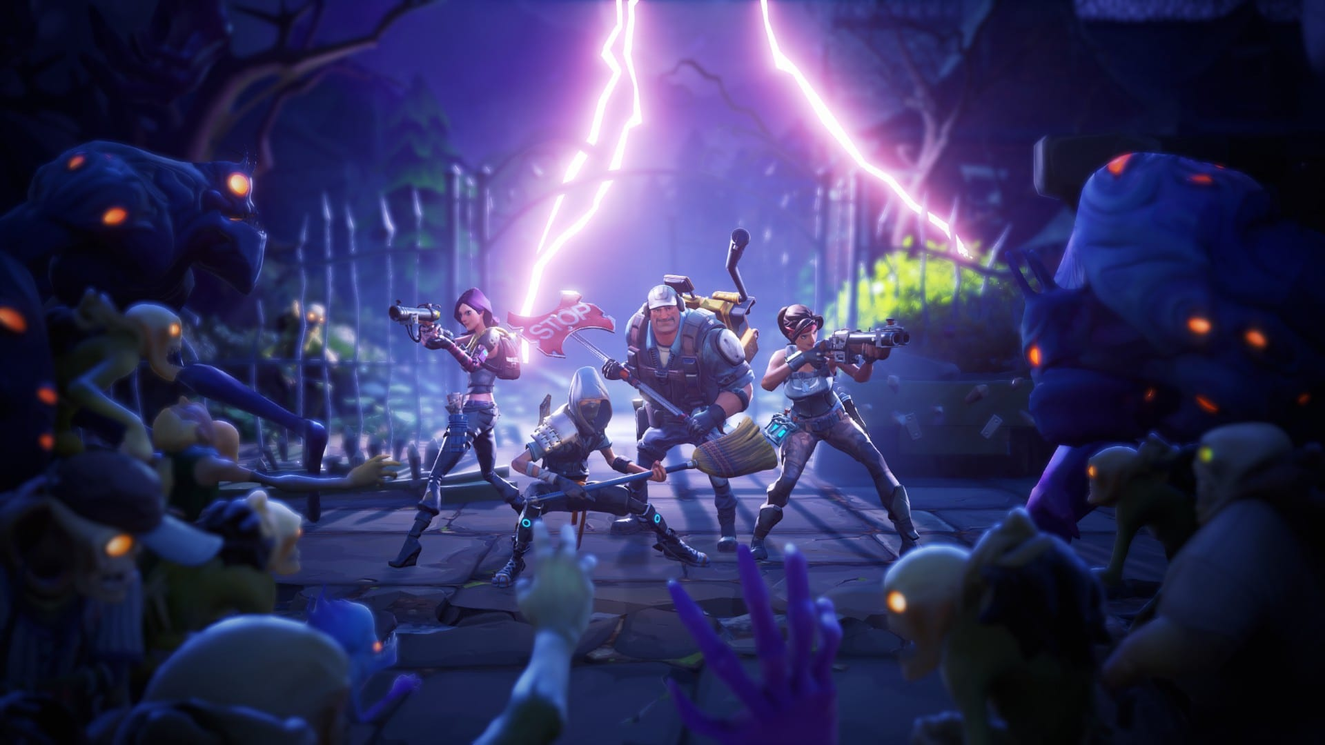 Desktop Wallpaper 2018 Video Game Fortnite Art Hd: Fortnite Save The World Zombie Walllpaper › Fortnite Tools