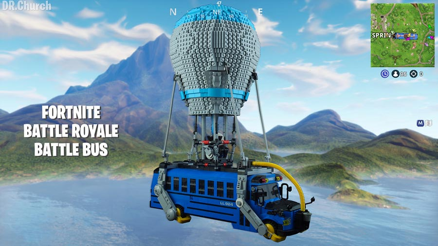 Fortnite Battle Bus Screenshot