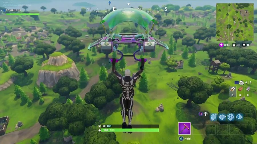 Fortnite Battle Royale Glider Screenshot