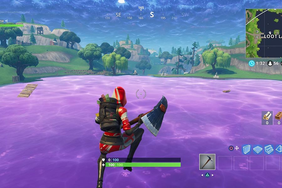 Fortnite Battle Royale Jumping on the Water