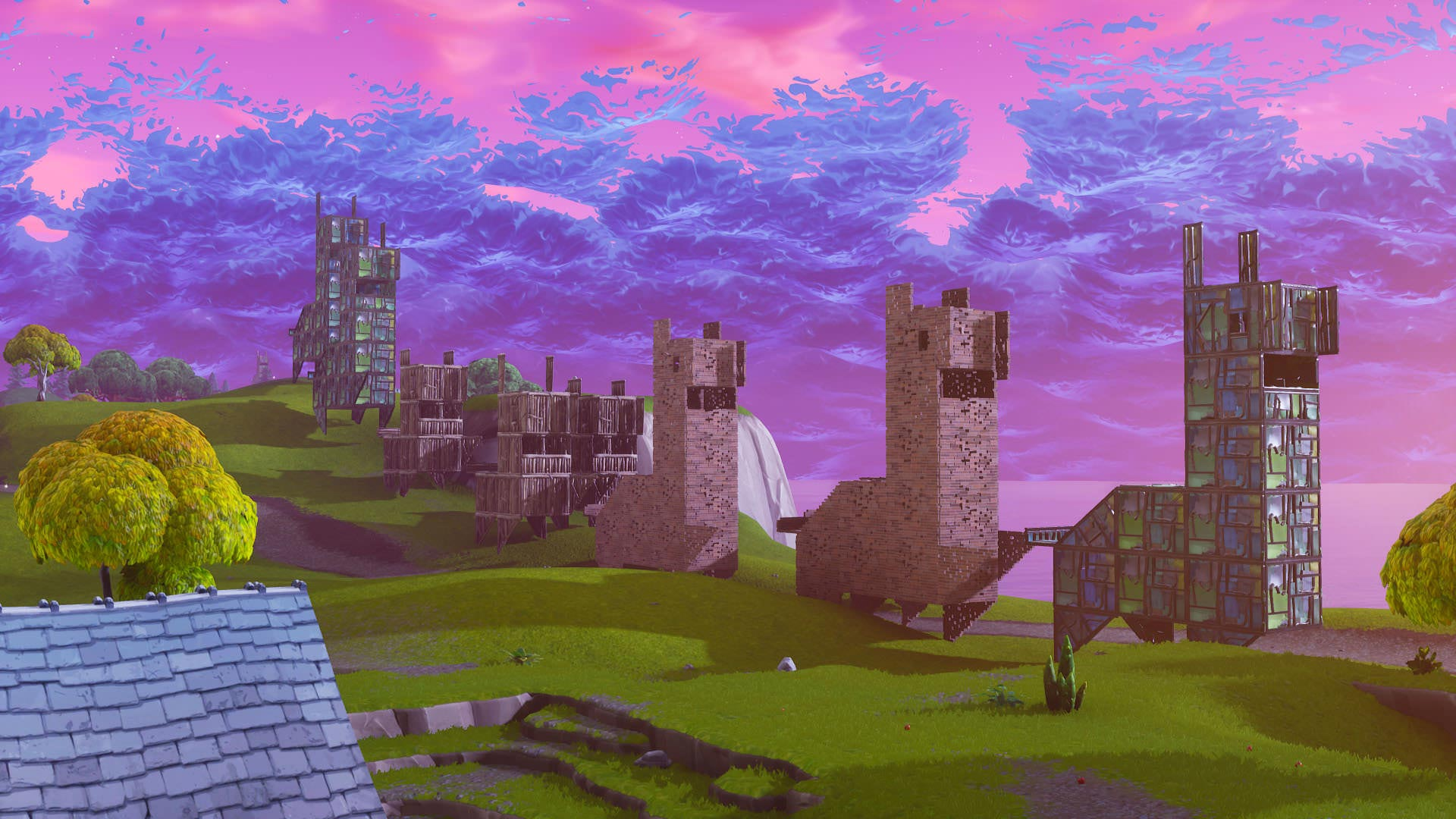 Fortnite Building Migrating Llamas