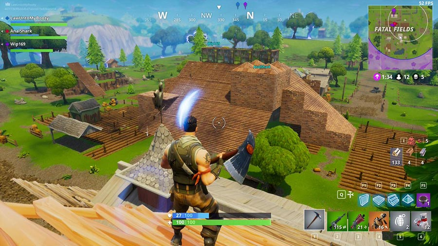 Fortnite Battle Royale Destroy Buildings
