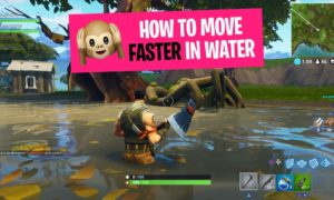 Fortnite How to move faster in water