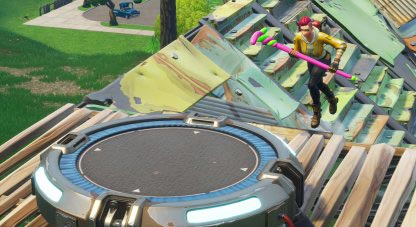 Use Launchpads to escape from the Fortnite Storm