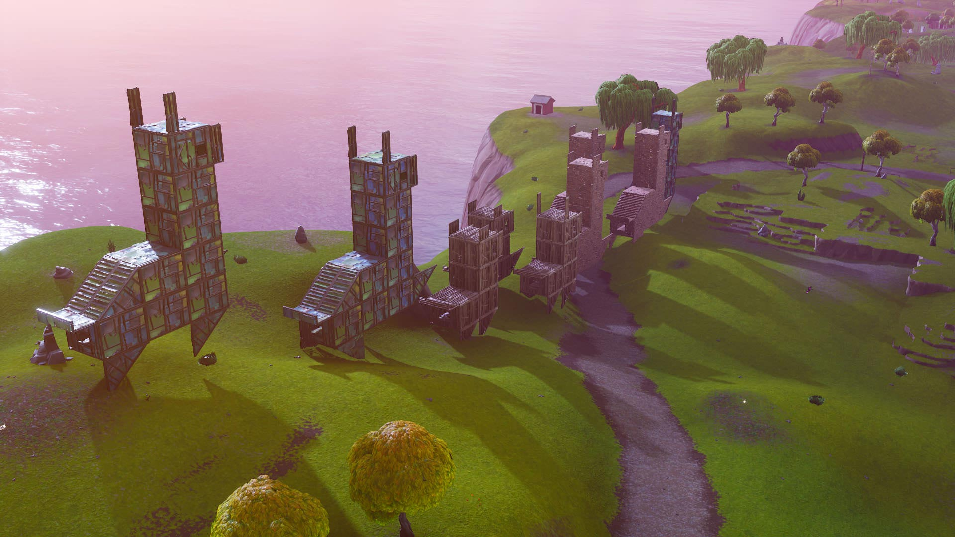 Fortnite Llama Building Screenshot