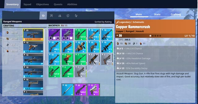 Fortnite Weapon Crafting Screenshot