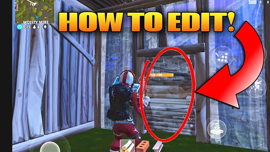 How to edit buildings in Fortnite