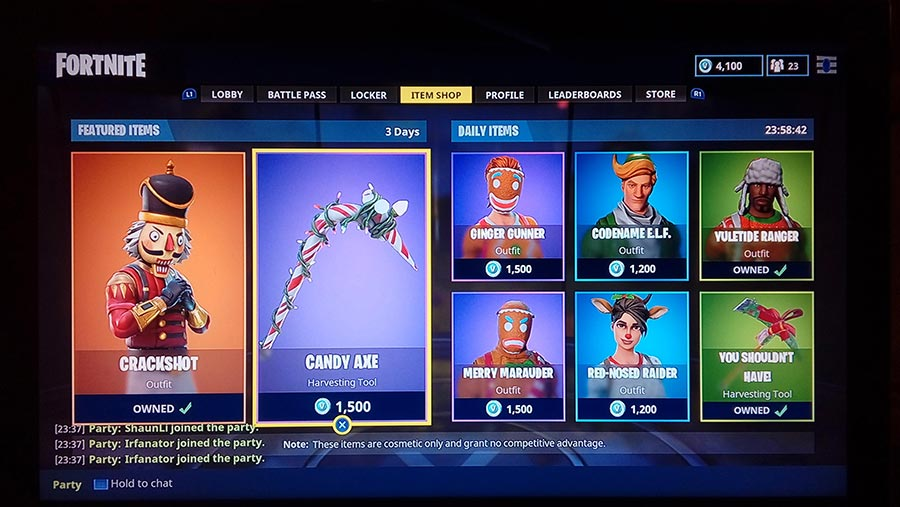 The Fortnite Shop Rotation