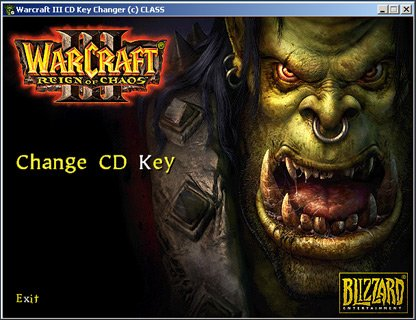 Warcraft 3 CD Key Changer Reign of Chaos