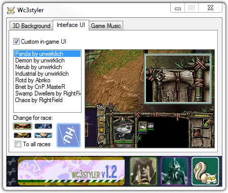 Warcraft 3 Styler Interface