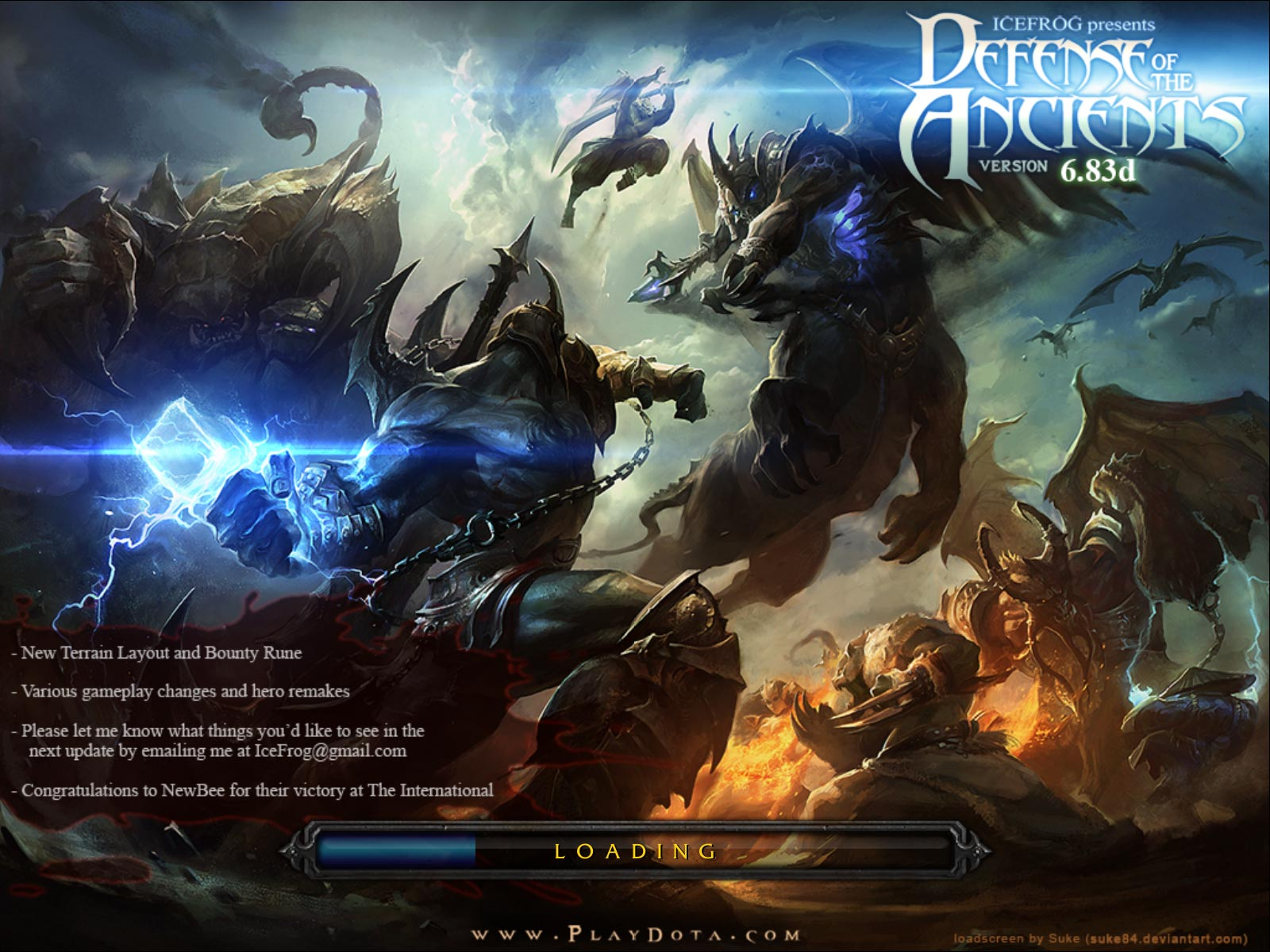 Dota Allstars v6.83d Loading Screen