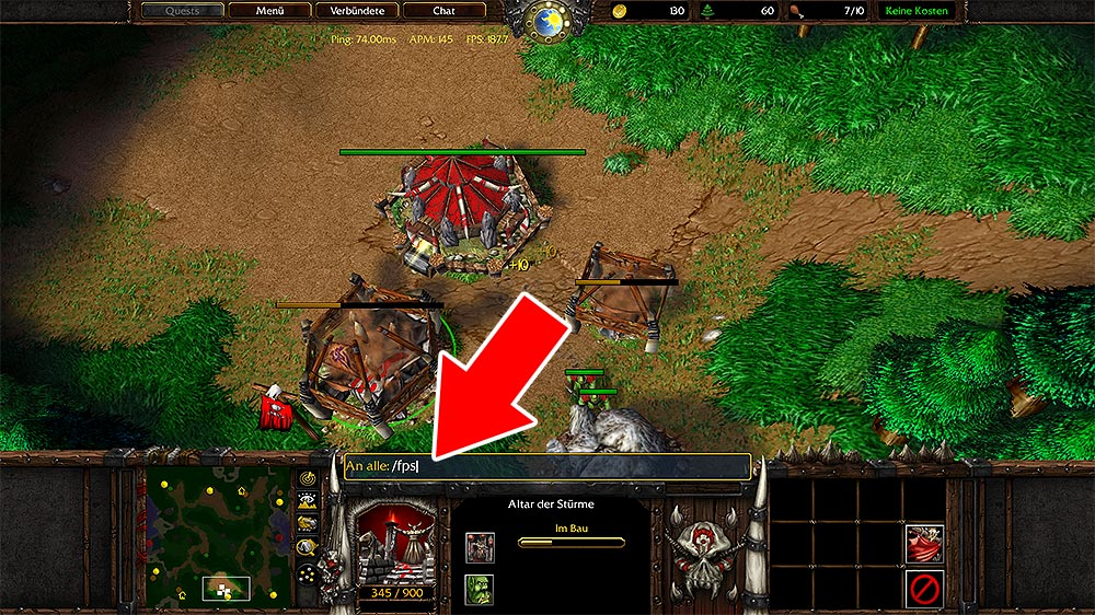 How to see FPS in WC3