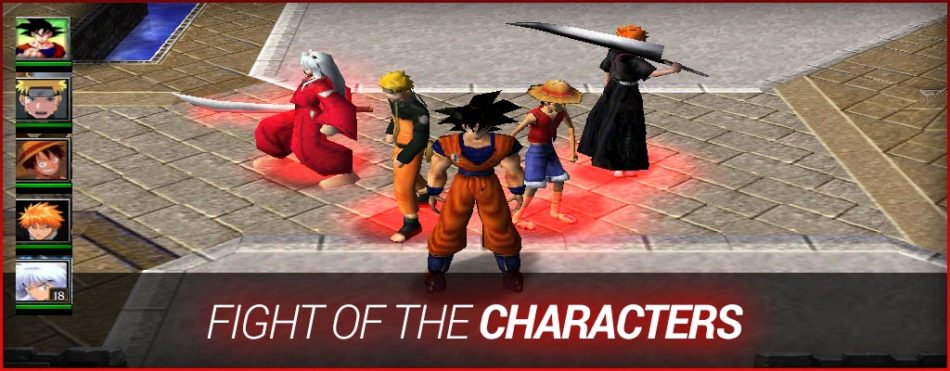 Fight of characters 1. 4.