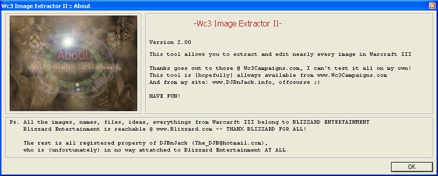 Warcraft 3 Image Extractor Info