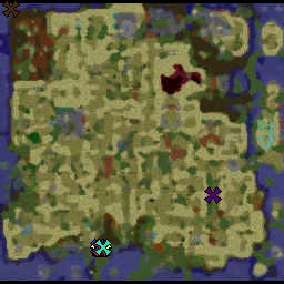 Warcraft 3 Sunken City Minimap