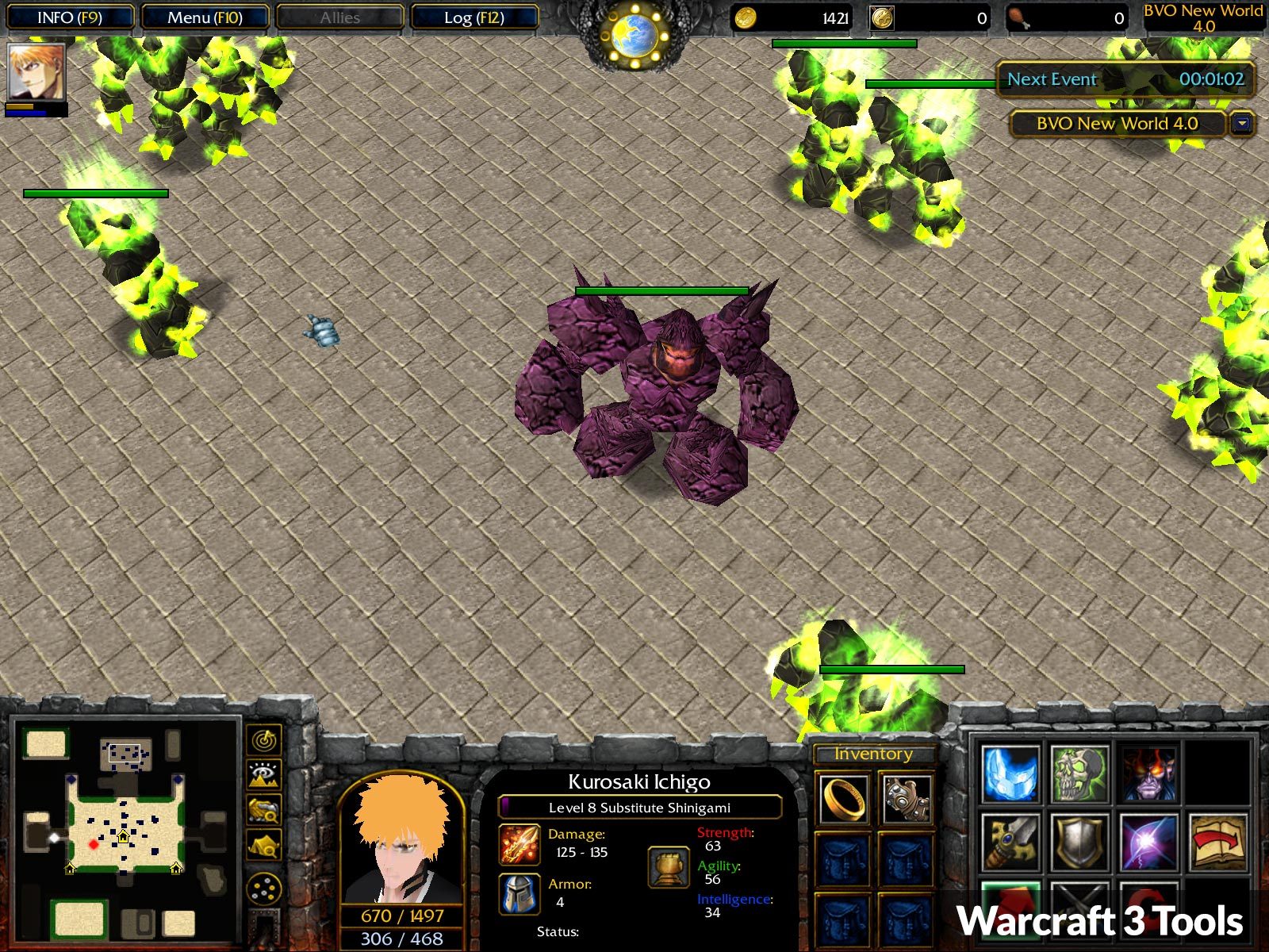 Warcraft 3 BVO New World Map Screenshot