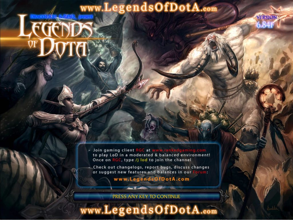 Dota LoD 6.84 Loading Screen