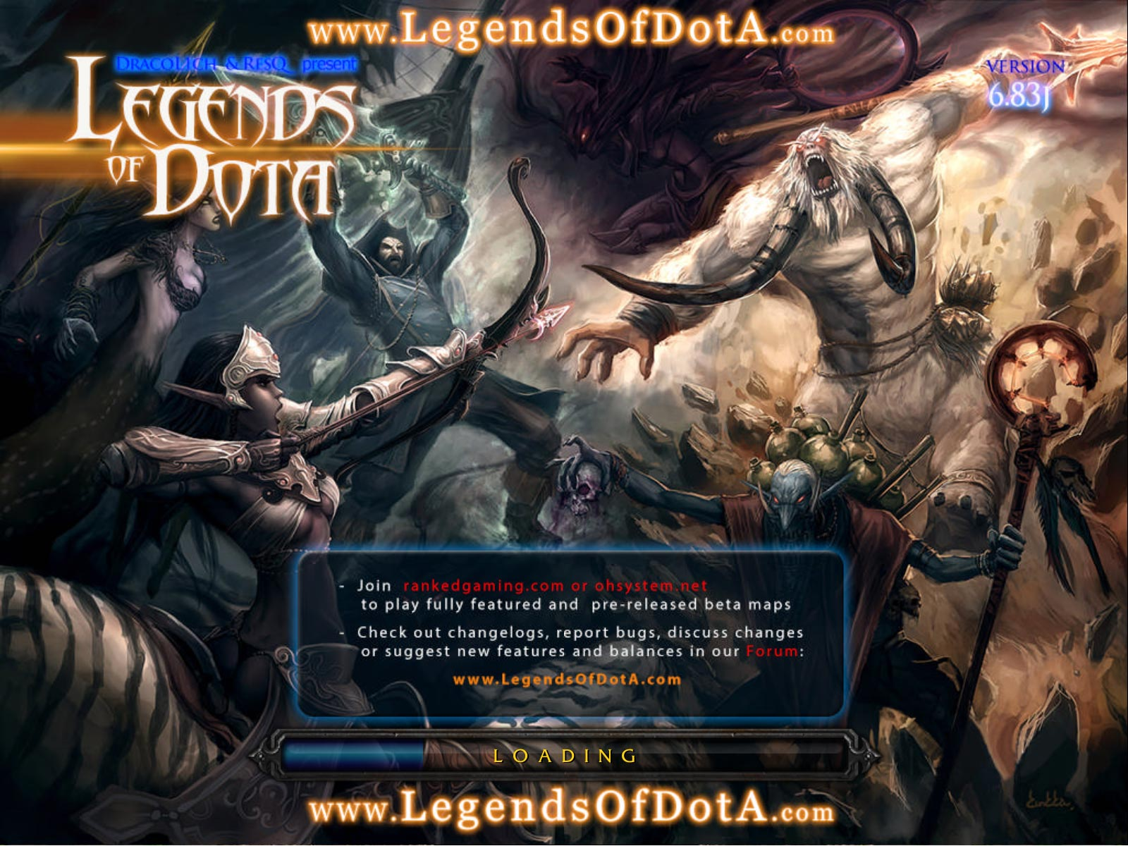 Dota LoD 6.83 Loading Screen