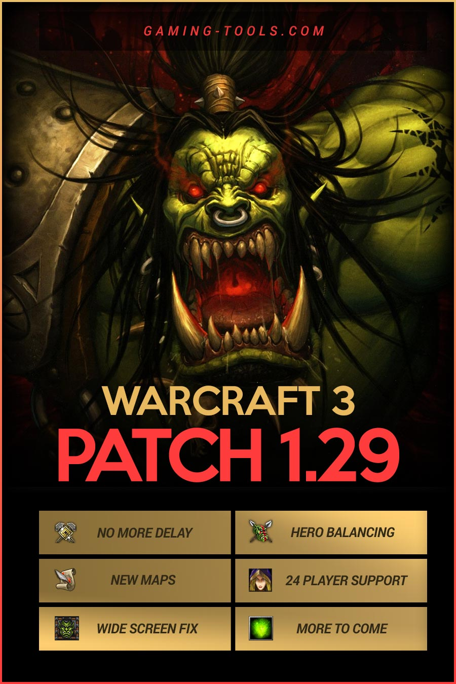 Warcraft 3 Patch 1.29 Infographic