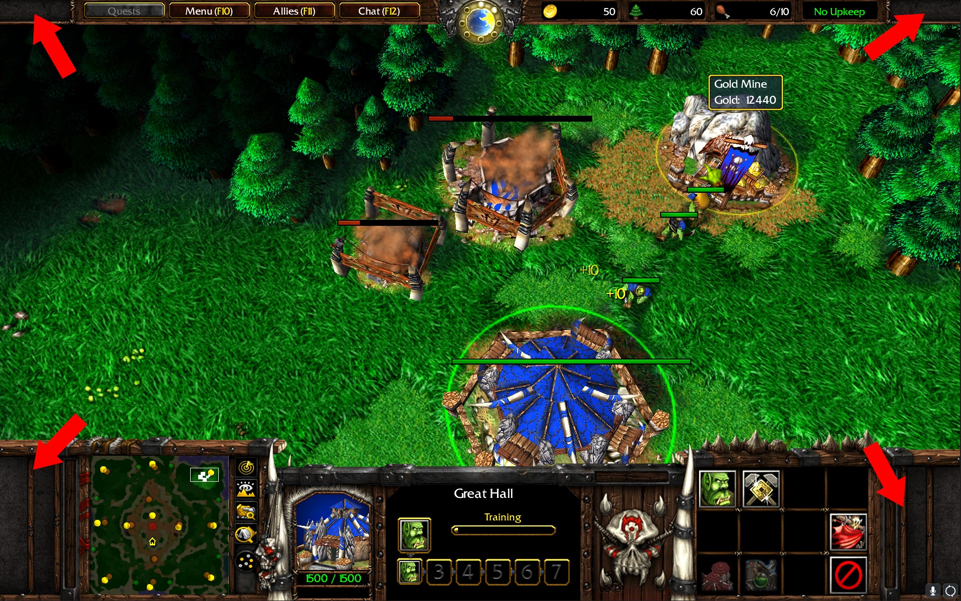 Warcraft 3 Patch 1.29 Ingame Screen Resolution