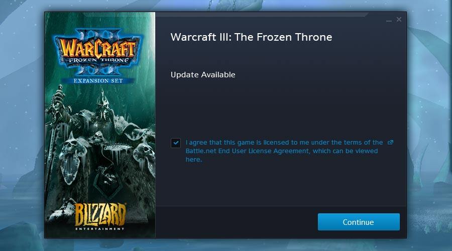 Warcrraft 3 Blizzard Updater