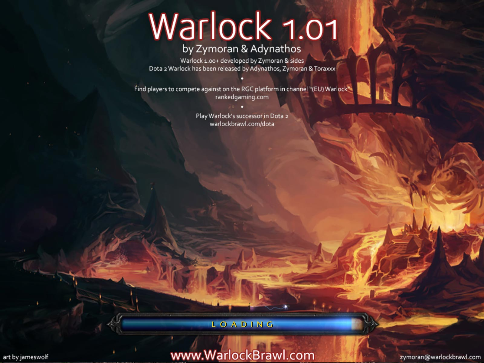 RGC Warlock Loading Screenshot