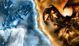 Fire and Ice Wallpaper Dragons