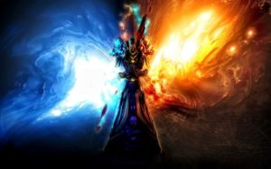 Fire and Ice Wallpaper Warcraft