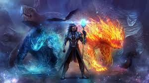 Wallpaper Warcraft Magic Fire and Ice