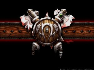 Warcraft 3 Orc Shield and Axes Logo