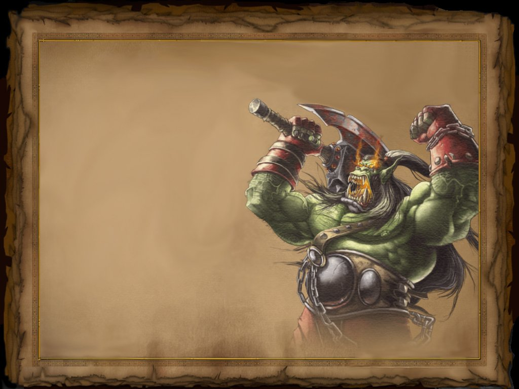 Warcraft Reign of Chaos Pergament Orc