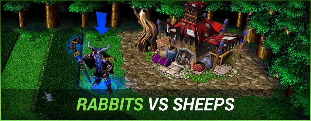 Warcraft 3 Rabbits vs Sheeps