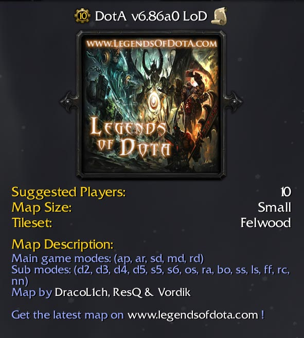 Legends of Dota Map Free Download 6.86