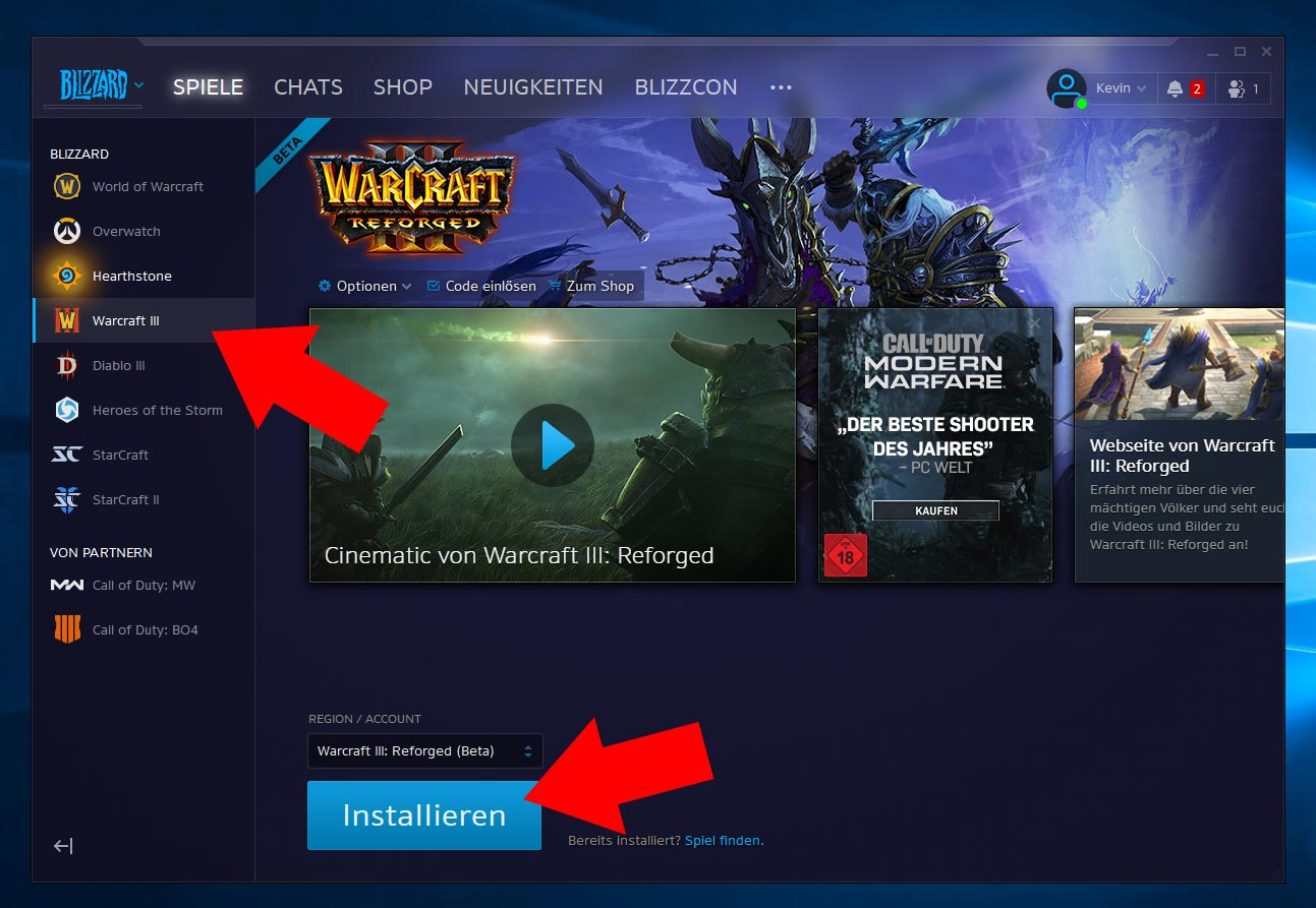 How to install Warcraft 3 Reforged