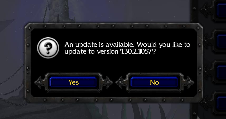 Warcraft 3 Patch 1.30.2.11 Window